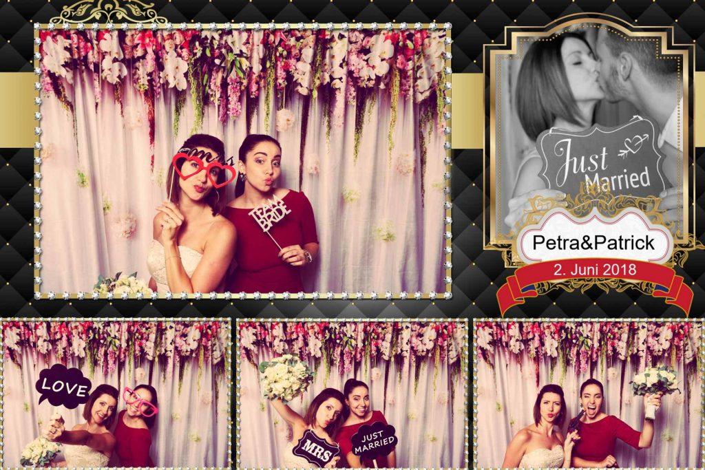 Foto-Print-Layout mit dem Brautpaar und dem Datum
