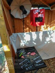 Fotobox aufbau der Rockbox am Kirtag in Oberloisdorf