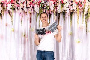 Hochzeit Fotobox Hintergrund Beispiel