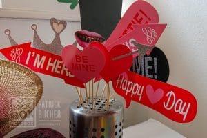 Karton Requisiten bei der Hochzeit in Nikitsch mit Fotobox!
