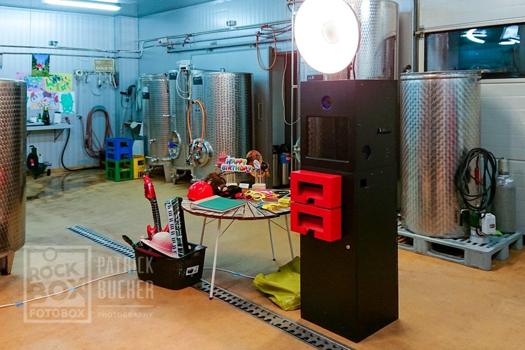 Fotobox bei einer Geburstagsfeier im Weingut Horvath in Rechnitz